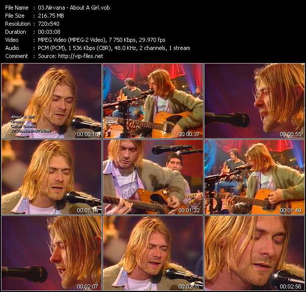 Nirvana video - About A Girl