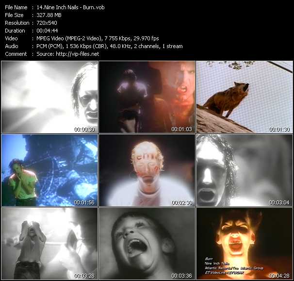 Nine Inch Nails video - Burn