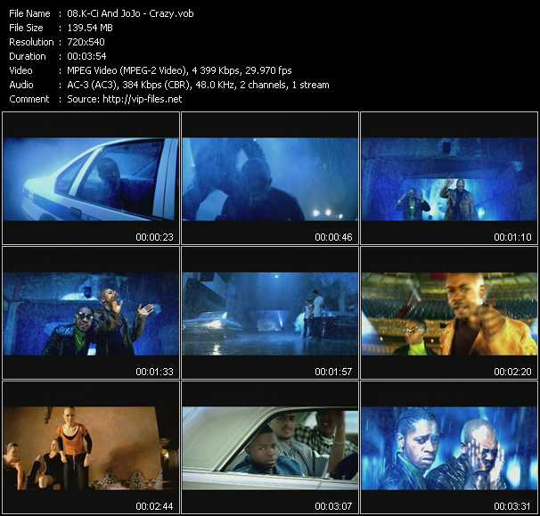 K-Ci And JoJo video - Crazy