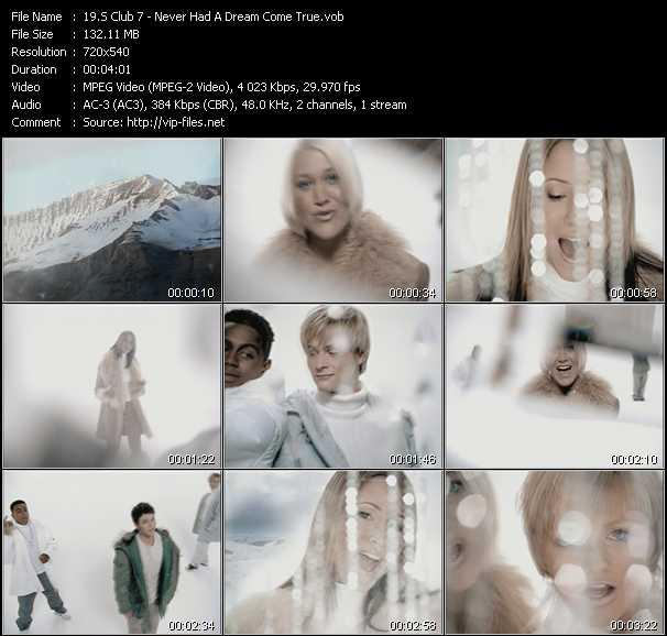 S Club 7 video - Never Had A Dream Come True