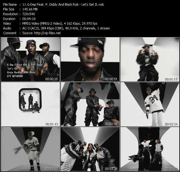 G-Dep Feat. P. Diddy (Puff Daddy) And Black Rob video - Let's Get It