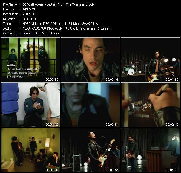 Wallflowers video - Letters From The Wasteland