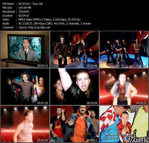N'Sync video - Pop