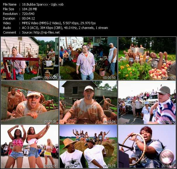Bubba Sparxxx video - Ugly