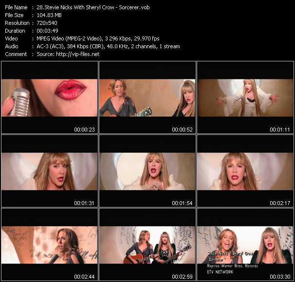 Stevie Nicks With Sheryl Crow video - Sorcerer