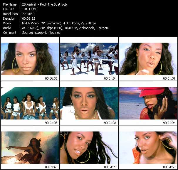 Aaliyah video - Rock The Boat