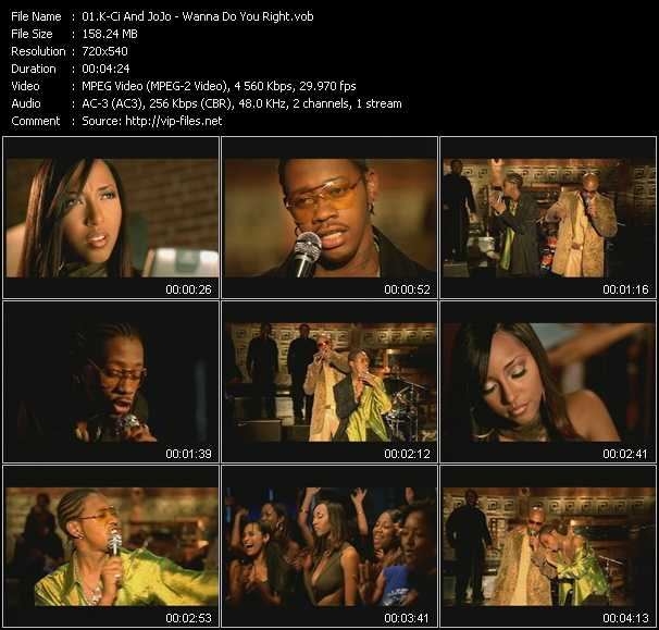 K-Ci And JoJo video - Wanna Do You Right