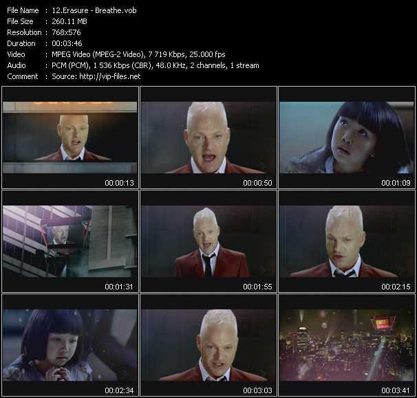 Erasure video - Breathe