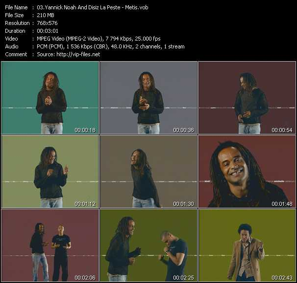 Yannick Noah And Disiz La Peste video - Metis