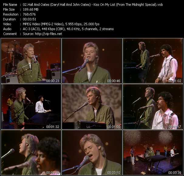 Hall And Oates (Daryl Hall And John Oates) video - Kiss On My List (From The Midnight Special)
