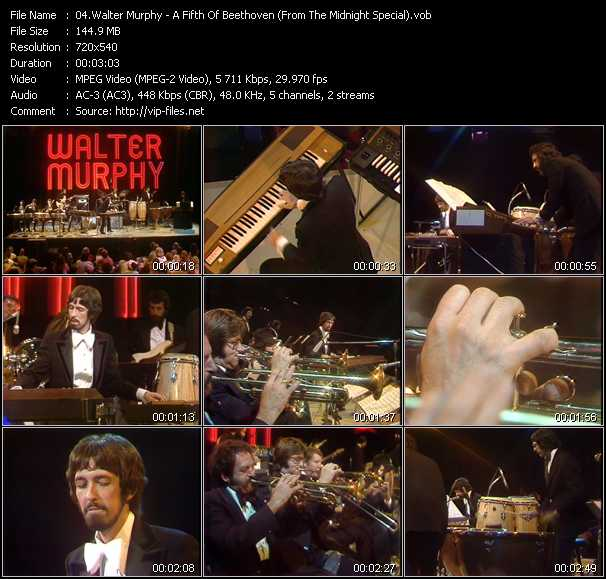 Walter Murphy video - A Fifth Of Beethoven (From The Midnight Special)