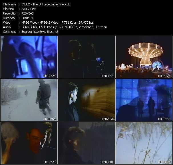 U2 video - The Unforgettable Fire
