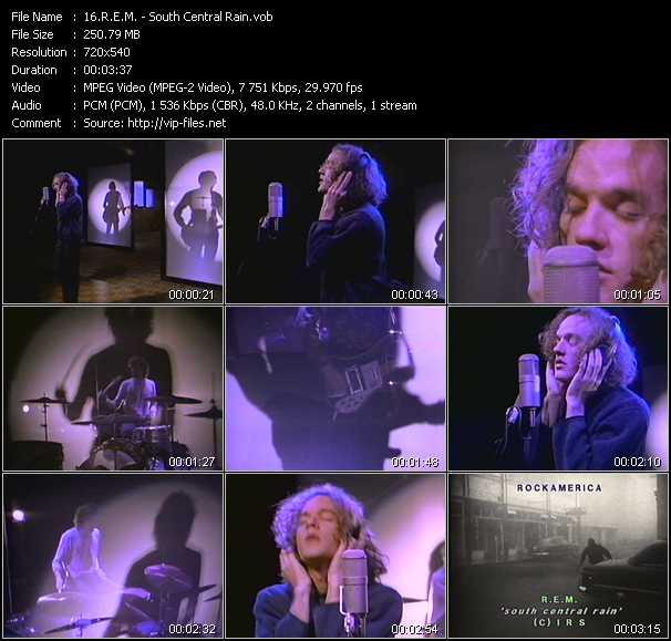 R.E.M. video - South Central Rain