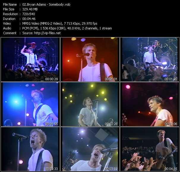 B. Adams video - Somebody