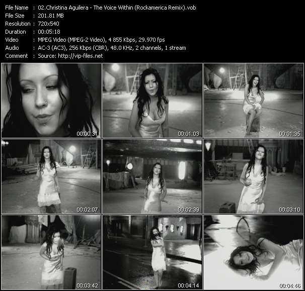 Christina Aguilera video - The Voice Within (Rockamerica Remix)