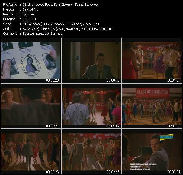 Linus Loves Feat. Sam Obernik video - Stand Back