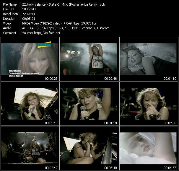 Holly Valance video - State Of Mind (Rockamerica Remix)
