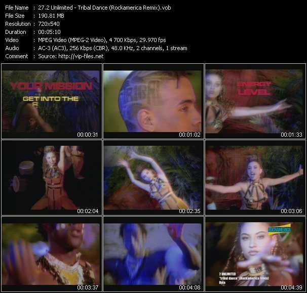 2 Unlimited video - Tribal Dance (Rockamerica Remix)