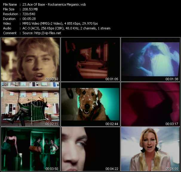 Ace Of Base video - Rockamerica Megamix