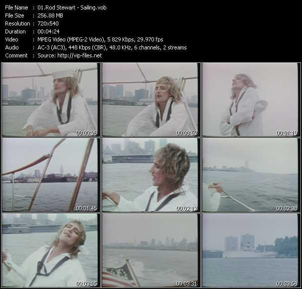 Rod Stewart video - Sailing