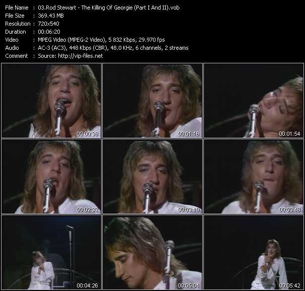 Rod Stewart video - The Killing Of Georgie (Part I And II)