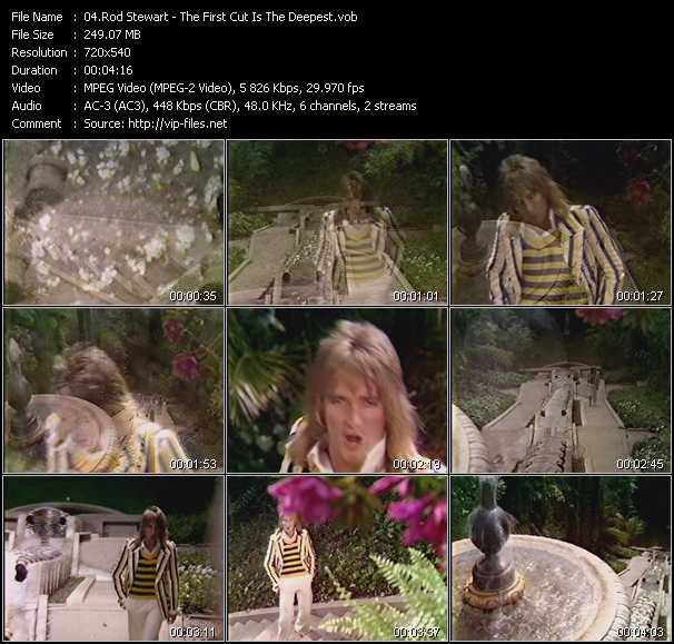 Rod Stewart video - The First Cut Is The Deepest