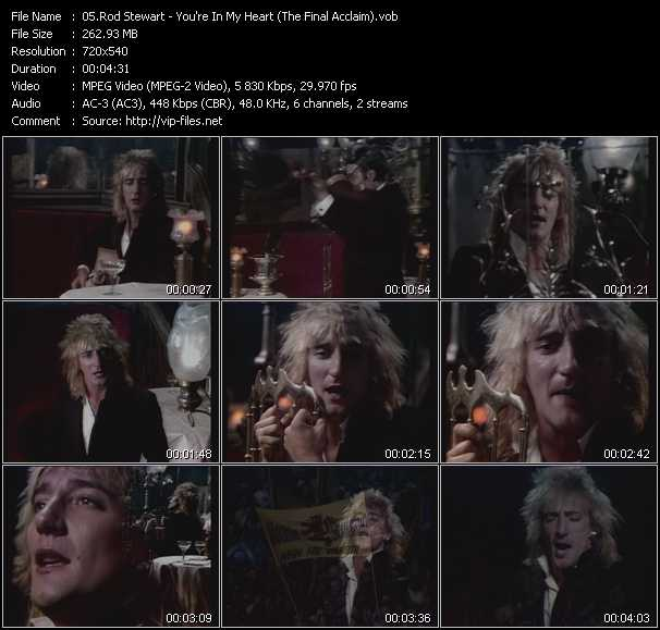 Rod Stewart video - You're In My Heart (The Final Acclaim)