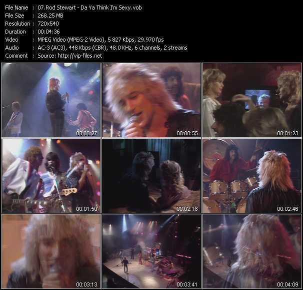 Rod Stewart video - Da Ya Think I'm Sexy