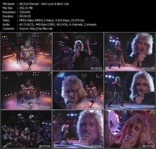 Rod Stewart video - Ain't Love A Bitch