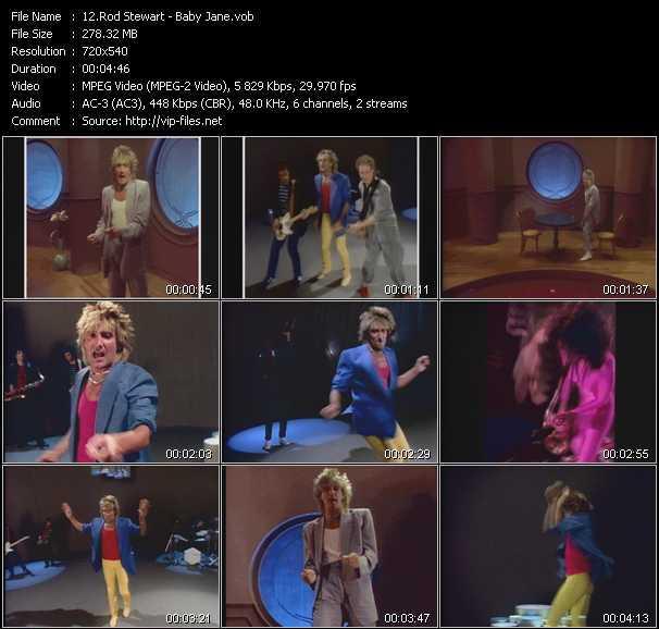 Rod Stewart video - Baby Jane