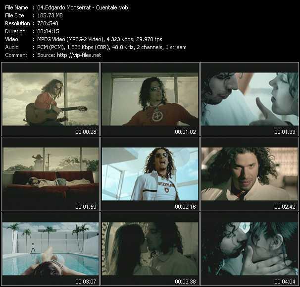 Edgardo Monserrat video - Cuentale