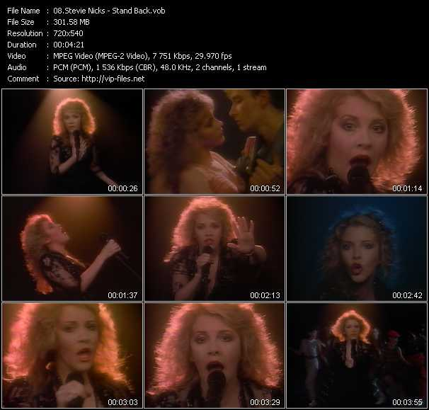 Stevie Nicks video - Stand Back