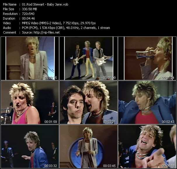 Rod Stewart video - Baby Jane