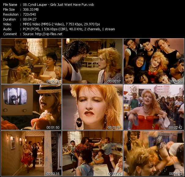Cyndi Lauper video - Girls Just Want Have Fun