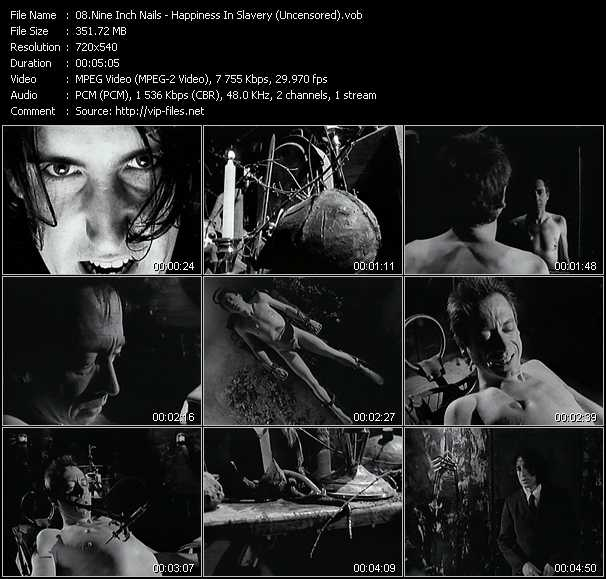 Nine Inch Nails video - Happiness In Slavery (Uncensored)