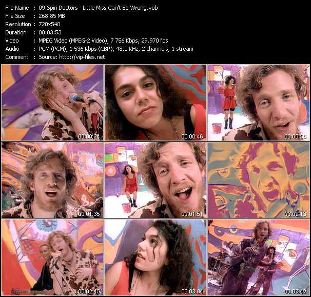 Spin Doctors Little Miss Can T Be Wrong Vob File Spin doctors' official music video for 'little miss can't be wrong'. mv files com