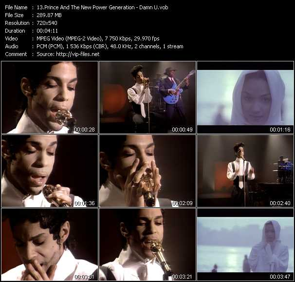 Prince And The New Power Generation video - Damn U