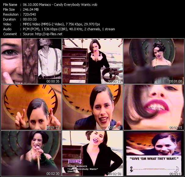 10.000 Maniacs video - Candy Everybody Wants