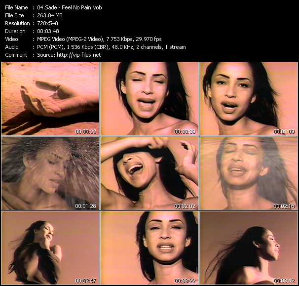 Sade video - Feel No Pain