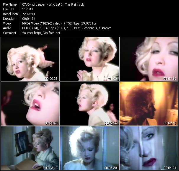 Cyndi Lauper video - Who Let In The Rain