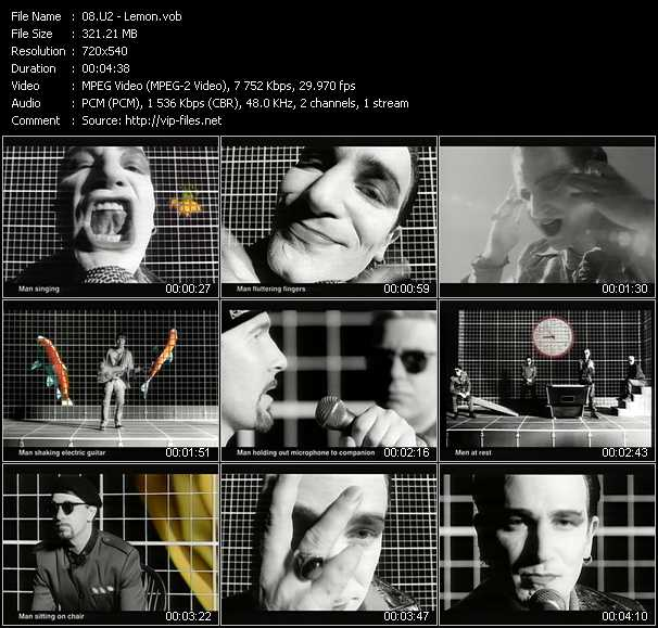 U2 video - Lemon