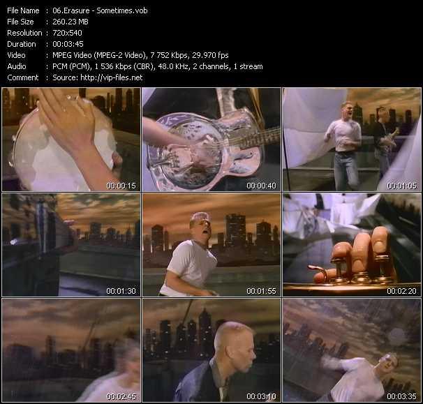 Erasure video - Sometimes