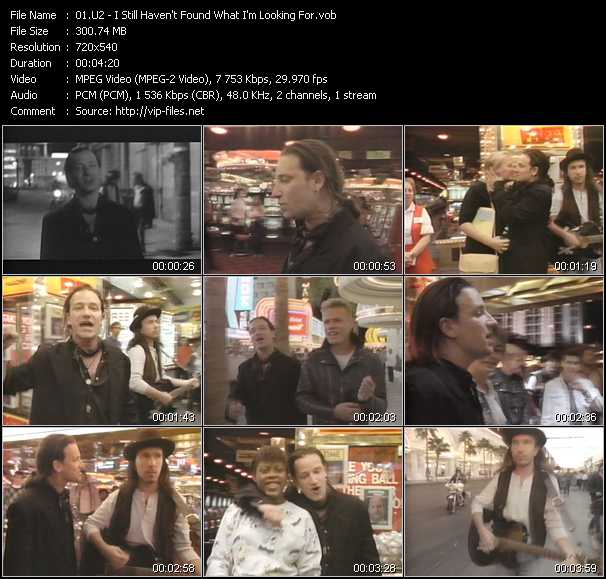 U2 video - I Still Haven't Found What I'm Looking For
