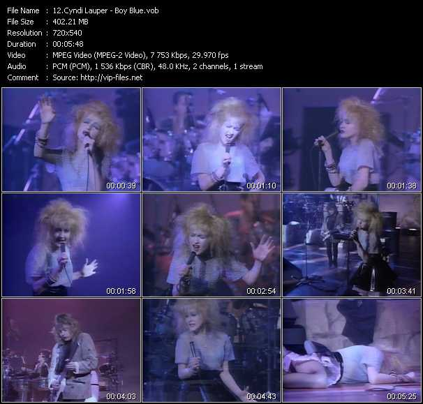 Cyndi Lauper video - Boy Blue