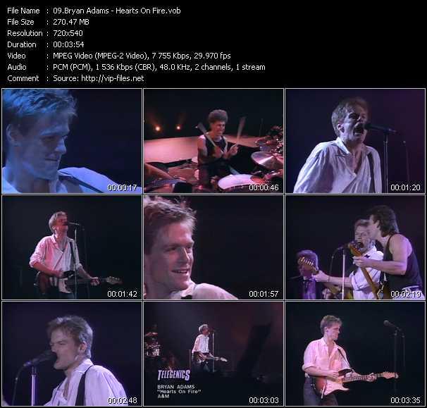 B. Adams video - Hearts On Fire