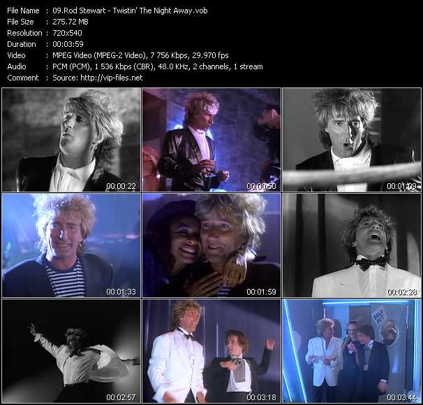 Rod Stewart video - Twistin' The Night Away
