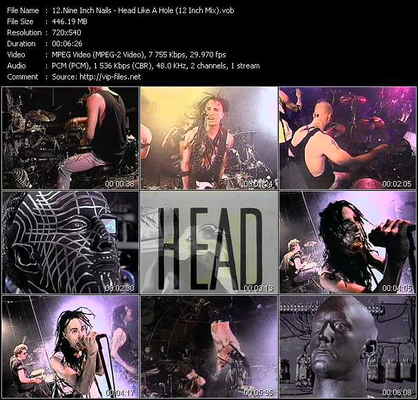 Nine Inch Nails video - Head Like A Hole (12 Inch Mix)