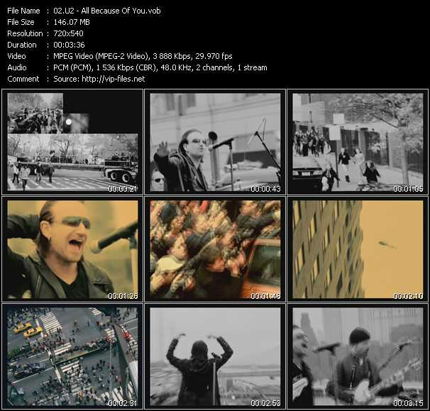 U2 video - All Because Of You