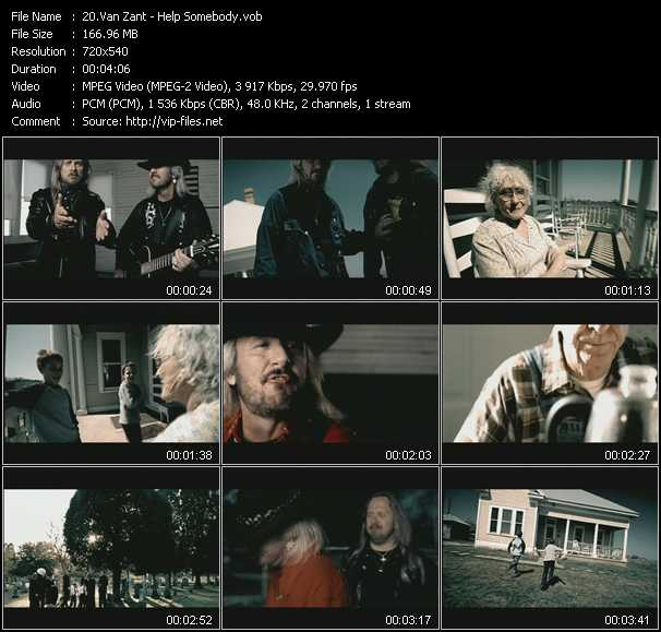 Van Zant video - Help Somebody