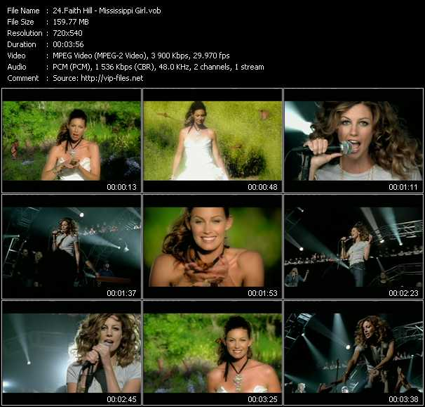 Faith Hill video - Mississippi Girl
